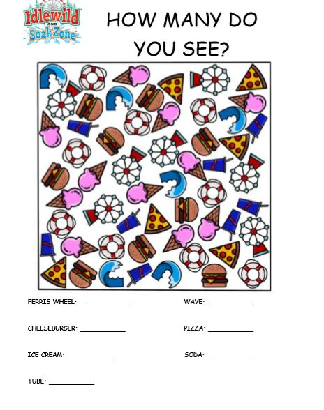 How Many Do You See Activity Sheet