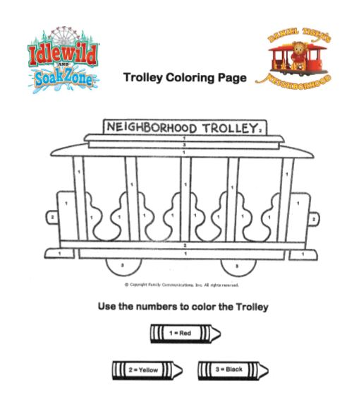 Line art of Neighborhood trolley