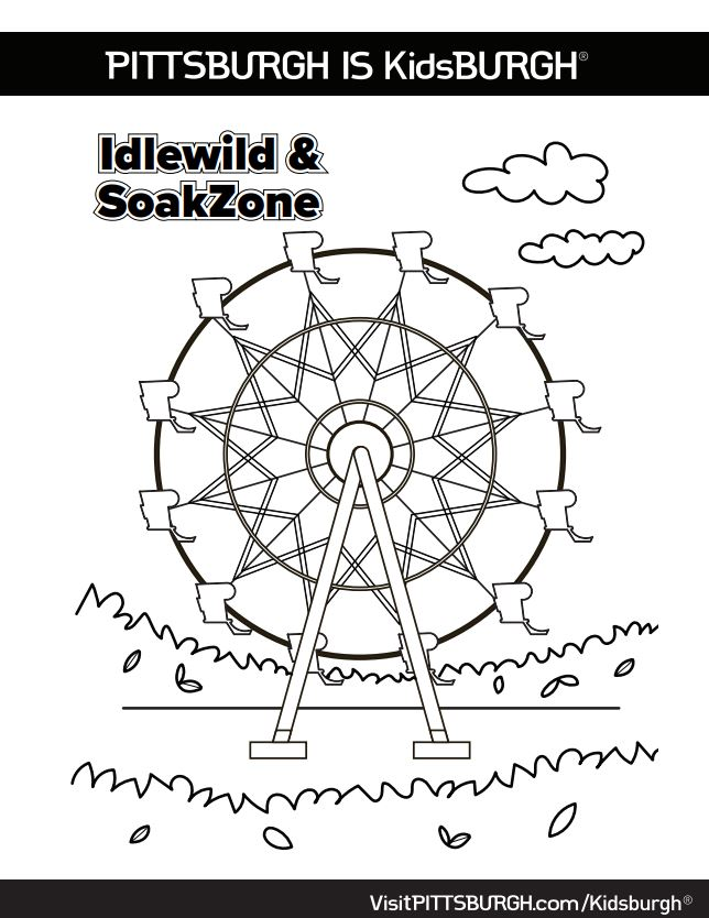 Line Art photo of Ferris Wheel for Coloring Sheet