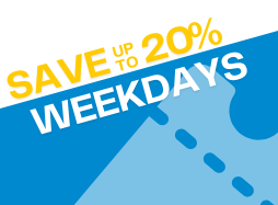 Weekday Admission- Save up to 20% on weekdays
