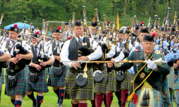 Pipers and Drummers at the Highland Games