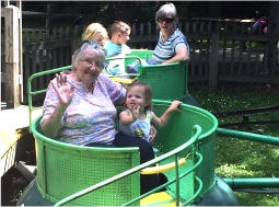 Gramma and grandaughter on Turtle Ride