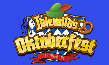 Idlewild's Oktoberfest logo on blue background