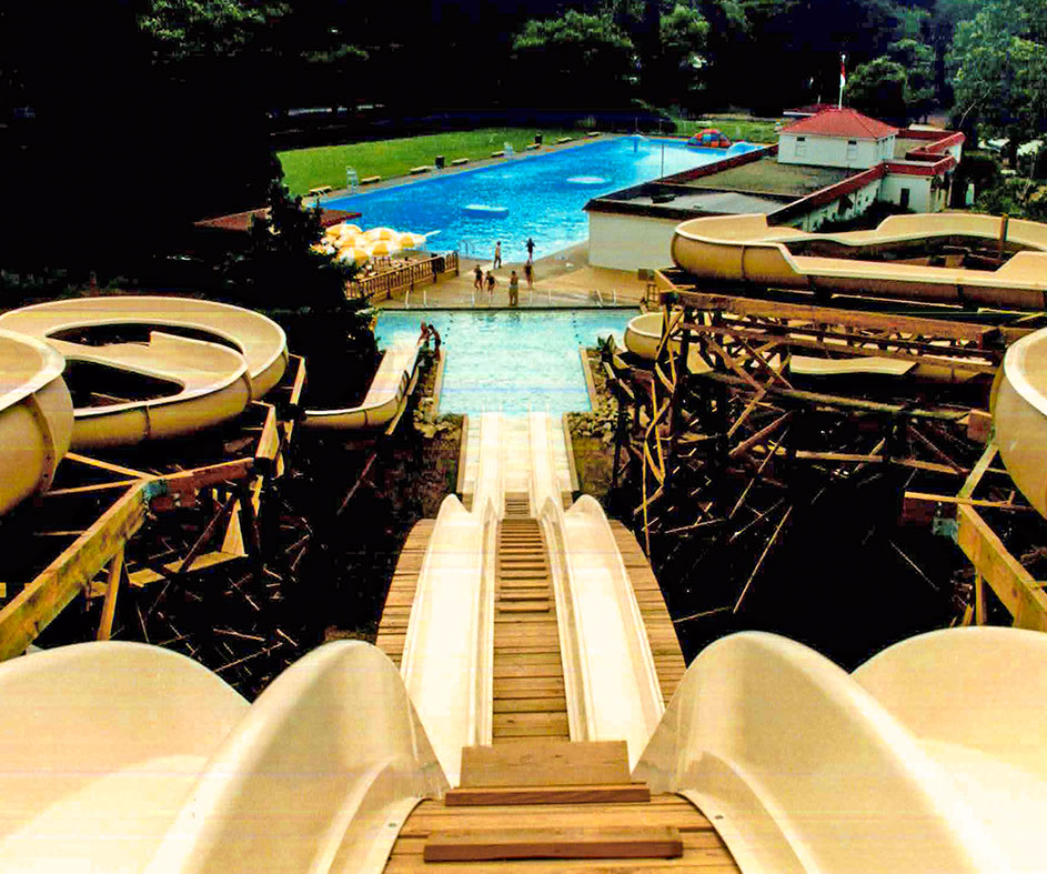 Historical photo of Idlewild water slide circa 1980