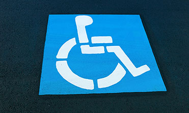Handicap parking lot space